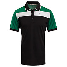 Buy Calvin Klein Golf Street Polo Shirt, Green/Black Online at johnlewis.com