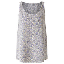 Buy Jigsaw Confetti Twist Tank Top, Sugared Violet Online at johnlewis.com