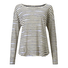 Buy Jigsaw Slouchy Linen Stripe T-Shirt Online at johnlewis.com