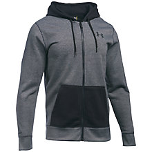 Buy Under Armour Storm Rival Fleece Patterned Full Zip Hoodie, Black Online at johnlewis.com