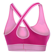 Buy Under Armour Crossback Mid Sports Bra, Purple Online at johnlewis.com