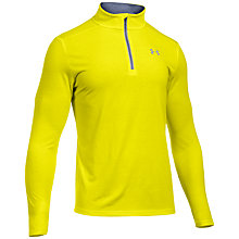 Buy Under Armour Running Streaker 1/4 Zip Long Sleeve Running Top, Yellow Online at johnlewis.com