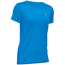 Buy Under Armour Short Sleeve Training Top, Blue Online at johnlewis.com