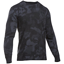 Buy Under Armour Storm Rival Fleece Printed Sweatshirt, Black Online at johnlewis.com