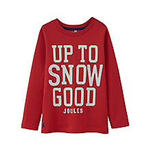 Buy Little Joule Boys' Raymond Glow In The Dark Top, Red Online at johnlewis.com