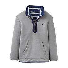 Buy Little Joule Boys' Thomas Reversible Sweatshirt, Grey Marl/Multi Online at johnlewis.com