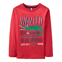 Buy Joules Boys' Junior Finlay Alligator T-Shirt, Red Online at johnlewis.com