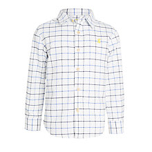 Buy Little Joule Boys' Junior Atley Oxford Shirt, Cream Online at johnlewis.com