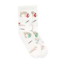 Buy John Lewis Children's Reindeer Slipper Socks, Multi Online at johnlewis.com