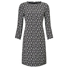 Buy Weekend MaxMara Clipper Printed Dress, Black/White Online at johnlewis.com