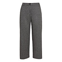 Buy Weekend MaxMara Piero Houndstooth Cropped Trousers, Black Online at johnlewis.com