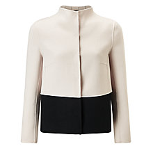 Buy Weekend MaxMara Onda Double Faced Jacket, White/Black Online at johnlewis.com