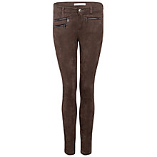 Buy Oui Suedette Trousers, Chocolate Online at johnlewis.com