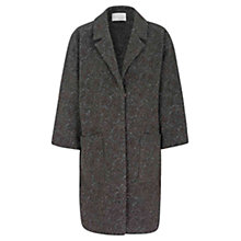 Buy Oui Metallic Fibre Detail Coat, Brown Black Online at johnlewis.com