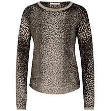 Buy Oui Leopard Print Jumper, Camel/Grey Online at johnlewis.com