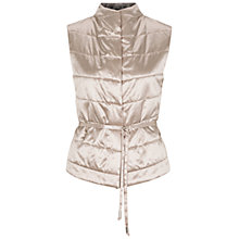 Buy Oui Satin Gilet, Light Stone Online at johnlewis.com