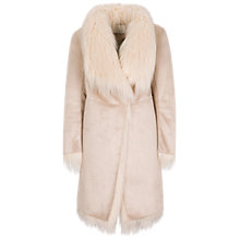 Buy Oui Faux Shearling  Coat, Gardenia Online at johnlewis.com