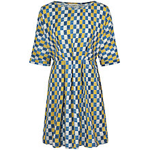 Buy Seasalt Mrs Green Dress, Strata Check Limpet Online at johnlewis.com