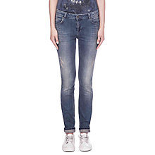 Buy Oui Sienna Slim Denim Jeggings, Dark Blue Denim Online at johnlewis.com