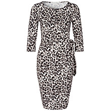 Buy Oui Animal Print Jersey Dress, Black/White Online at johnlewis.com