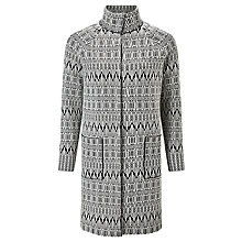 Buy Weekend MaxMara Alcide Jacquard Knitted Coat, Black/White Online at johnlewis.com