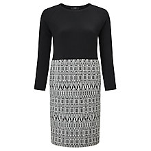 Buy Weekend MaxMara Badia Knitted Jacquard Dress, Black/White Online at johnlewis.com