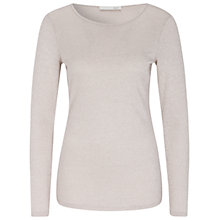 Buy Oui Metallic Fibre Jumper, Taupe Online at johnlewis.com