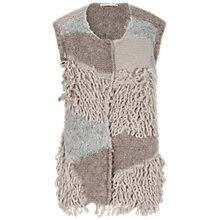 Buy Oui Knitted Gilet, Light Brown Camel Online at johnlewis.com
