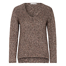 Buy Oui Sequin Detail Jumper, Walnut Online at johnlewis.com