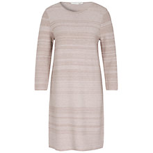 Buy Oui Stripe Knitted Dress, Light Stone/Taupe Online at johnlewis.com