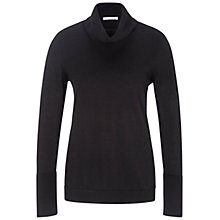 Buy Oui Classic Cotton Polo Neck Jumper, Black Online at johnlewis.com