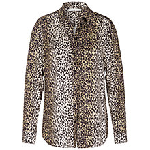 Buy Oui Animal Print Blouse, Off White/Grey Online at johnlewis.com