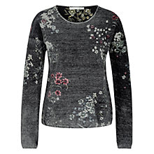 Buy Oui Reversible Print Jumper, Black/Camel Online at johnlewis.com