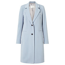 Buy Oui Crombie Style Coat, Light Blue Online at johnlewis.com