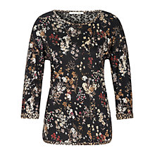 Buy Oui Printed Jersey Top With Lace Back Detail, Multi Online at johnlewis.com