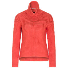 Buy Oui Ribbon Knit Jumper, Mandarin Red Online at johnlewis.com