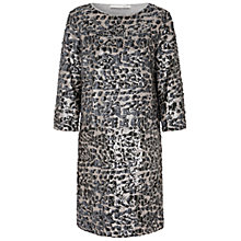 Buy Oui Animal Sequin Dress, Off White/Grey Online at johnlewis.com