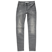 Buy Oui Sienna Slim Denim Jeggings, Grey Denim Online at johnlewis.com