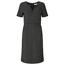 Buy John Lewis Jolie Herringbone Dress, Dark Grey Online at johnlewis.com