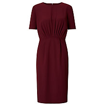 Buy John Lewis Audrey Front Pleat Dress, Burgundy Online at johnlewis.com