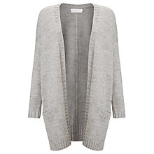 Buy Collection WEEKEND by John Lewis Mid Length Edge To Edge Cardigan, Light Grey Online at johnlewis.com