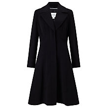 Buy John Lewis Fit And Flare Coat, Black Online at johnlewis.com