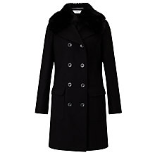 Buy John Lewis Detachable Faux Fur Collar Coat Online at johnlewis.com