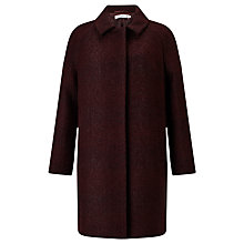 Buy Collection WEEKEND by John Lewis Cocoon Coat, Dark Red Online at johnlewis.com