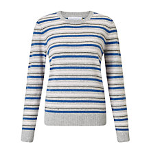 Buy Collection WEEKEND by John Lewis Luxury Cashmere Stripe Jumper, Grey Online at johnlewis.com