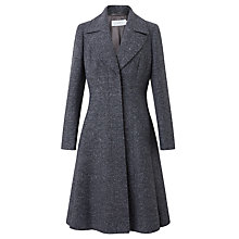 Buy John Lewis Fit And Flare Coat, Grey Herringbone Online at johnlewis.com
