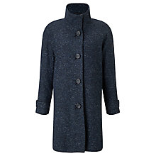 Buy John Lewis Janet Textured Swing Coat, Navy Online at johnlewis.com