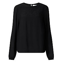 Buy Collection WEEKEND by John Lewis Embroidered Top, Black Online at johnlewis.com