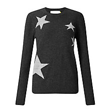 Buy Collection WEEKEND by John Lewis Falling Star Intarsia Jumper, Charcoal Online at johnlewis.com