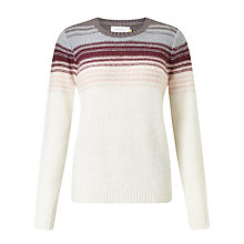 Buy Collection WEEKEND by John Lewis Ombre Jumper, Cream/Pink/Grey Online at johnlewis.com